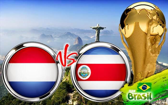 Perkiraan Skor Laga Belanda vs Kosta Rika Pada Perdelapan Final World Cup05/07/2014