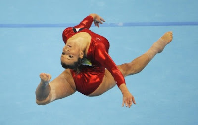 Gymnast Alicia Sacramone posing nude for ESPN The Magazine's Body Issue 2011