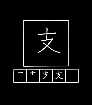 kanji mendukung
