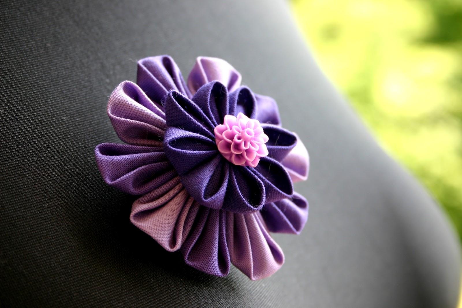 blumen aus stoff selber basteln, cherchez la femme!: kanzashi - blüten aus stoff, Design ideen
