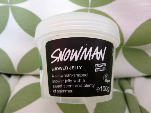 LUSH Snowman shower jelly