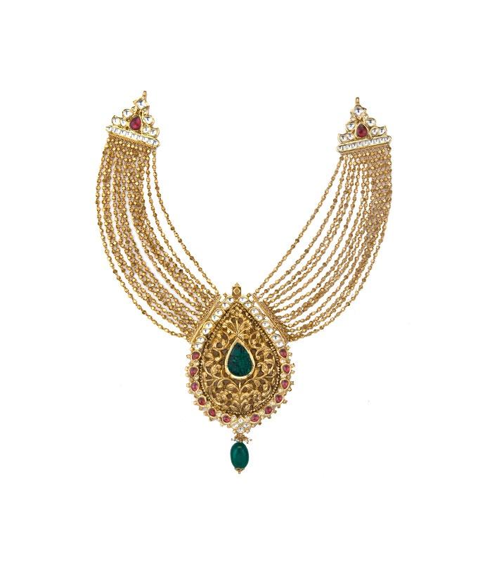 indian jewellery and clothing short and heavy gold