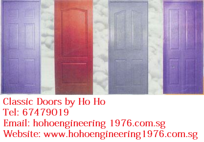 Classic Wooden Door Is Installed Commonly In Singapore HDB Rooms Prefered By Singaporeans Because It Cheap And Comes