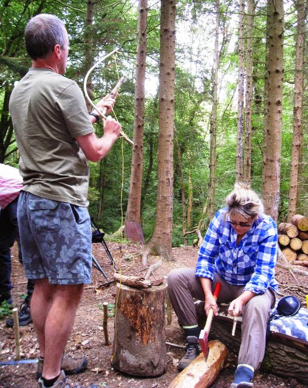 Woodworking in the woodland