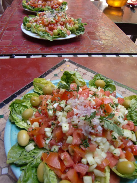 rundt marokkansk bord