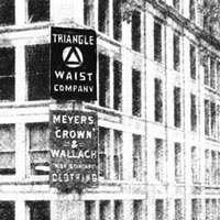Image of the front of the Triangle Waist Company building.