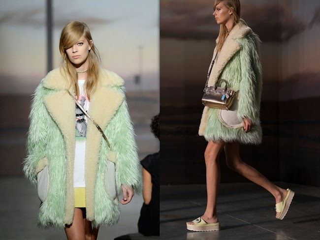 Coach × Gary Baseman 2015 SS Mint Fur Coat Runway