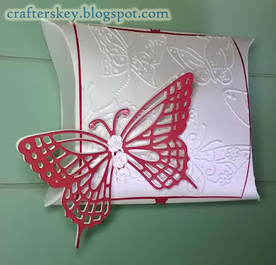 We R Memory Keepers Pillow Box Punch Board Modified.