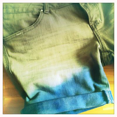 DIY Das mach ich selber! Dip Dye Shorts