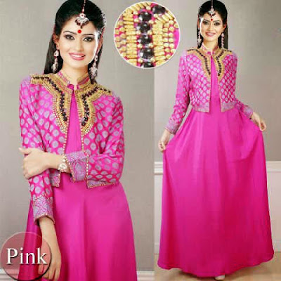 Desain Busana Jodha Akbar Warna Pink
