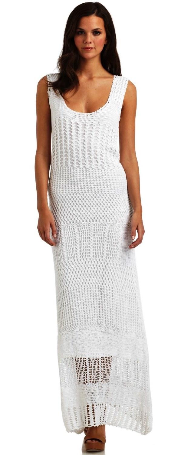 Шикарное элегантное платье крючком. 73598