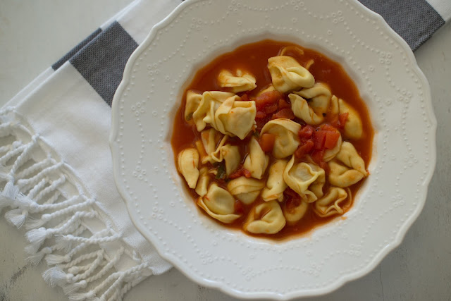 Easiest tortellini soup you will ever make!  So delicious!