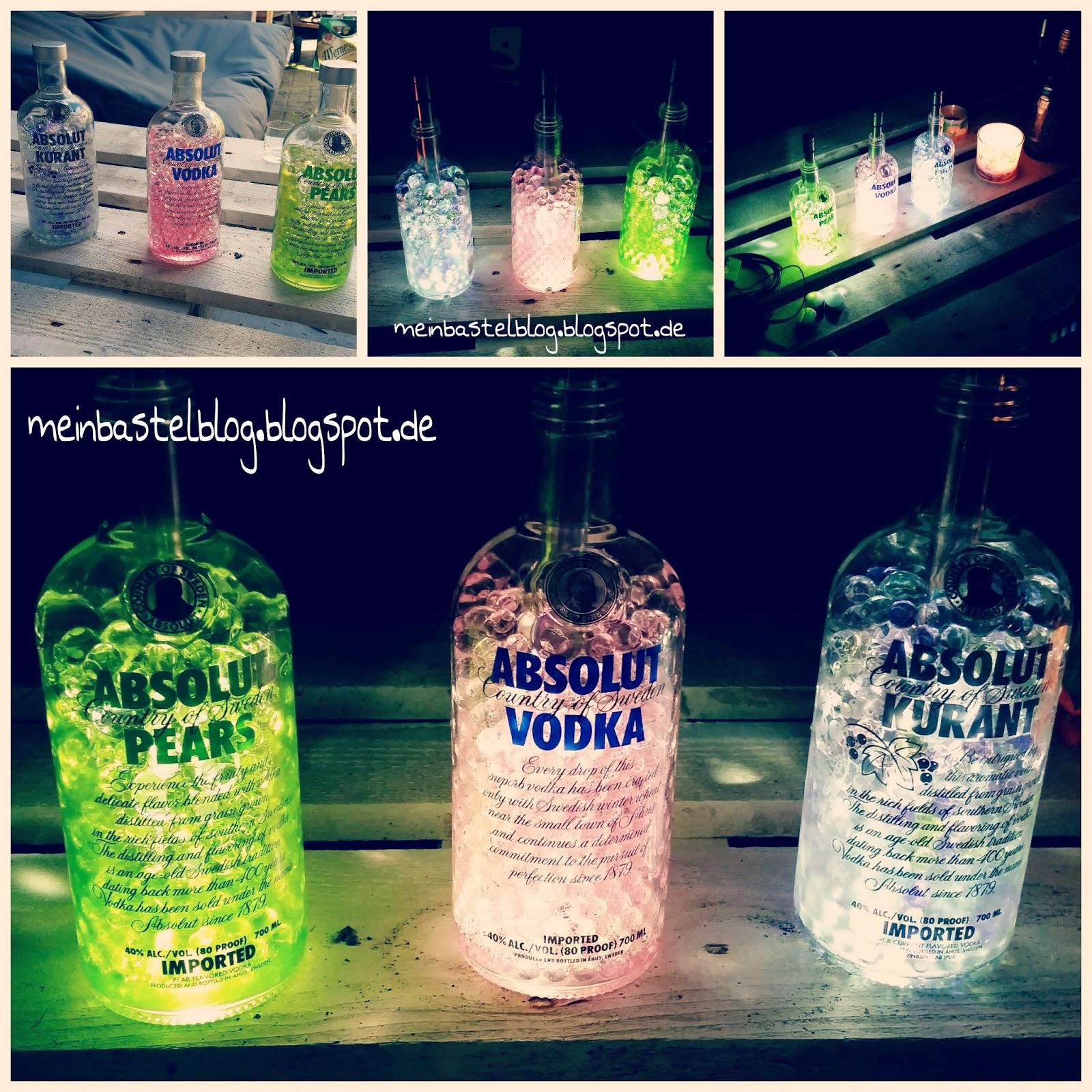 Deko Vodka Flaschen Mein Bastelblog