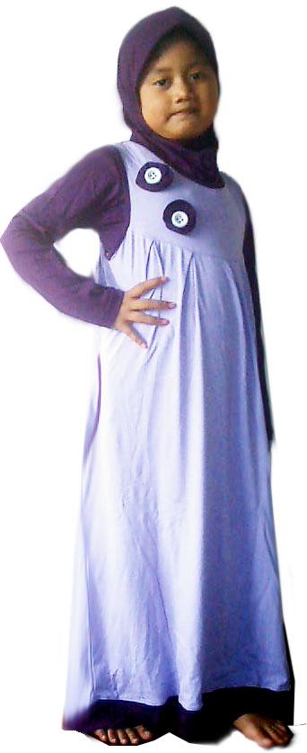 Busana muslim baju anak muslim bahan kaos Baju gamis anak kaos