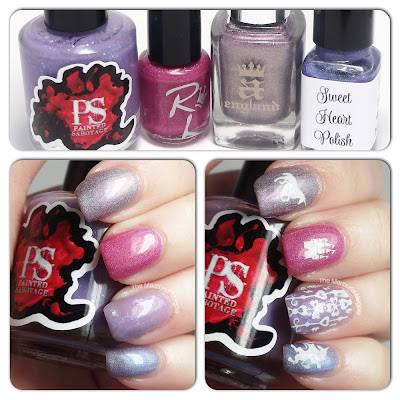The Mercurial Magpie - Nail Art - Fanciful Pink & Purple Skittles
