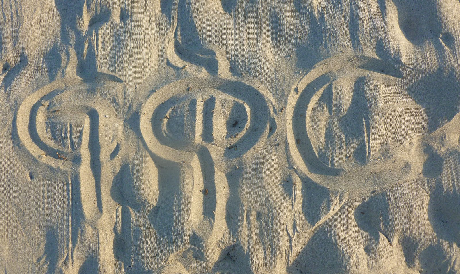 Don't write your name on sand