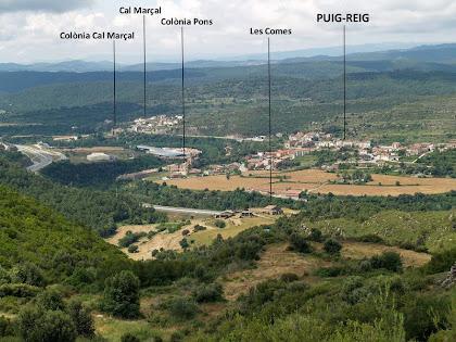 Vistes de Puig-reig i la Vall del Llobregat, una vegada passat el control nº 3