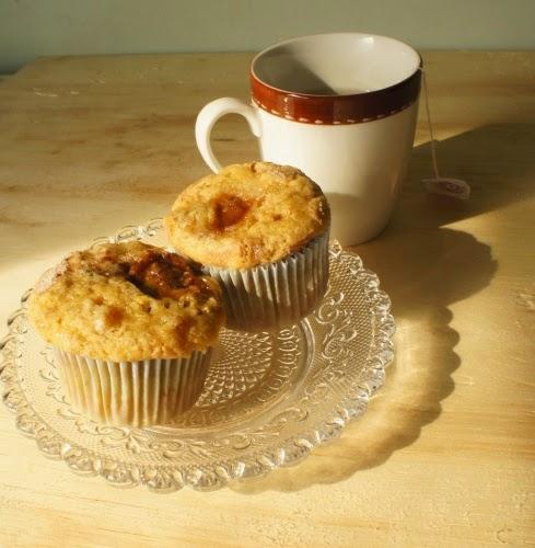muffin de banana e castanha-do-pará