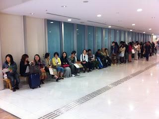 Food queue Tokyo