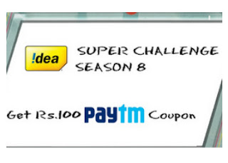 Idea : Get Free 100 PayTM Cash for Idea Super Challenge Season 10, Select your language and Give correct answer of 10 questions