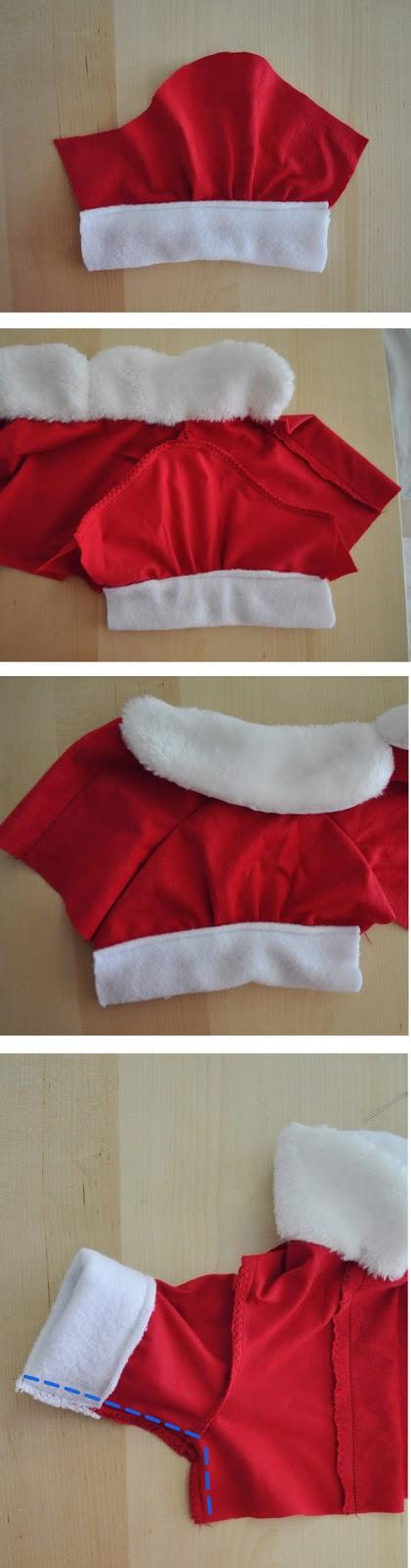 mangas vestido navidad para perro