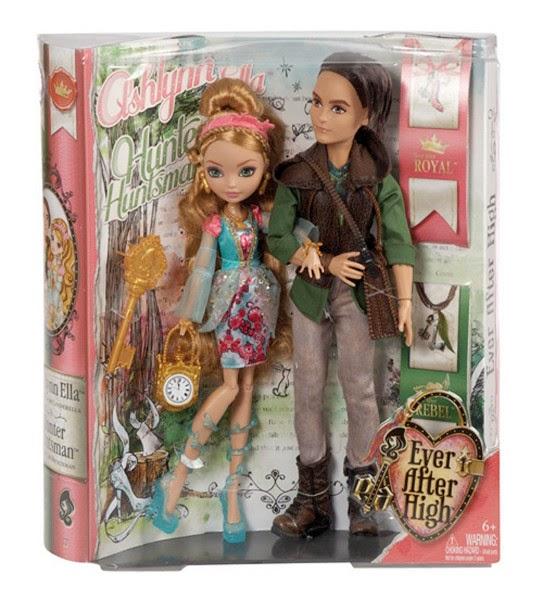 JUGUETES - EVER AFTER HIGH  Ashlynn Ella & Hunter Huntsman | Pack 2 Muñecas  Producto Oficial | Mattel BFX04 | A partir de 6 años