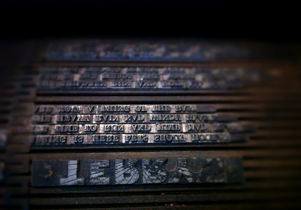 printing plate at the National Print Museum, Dublin