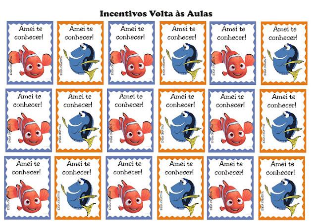 Incentivos Volta às Aulas Procurando Nemo