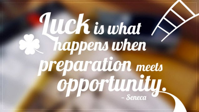 "Top 10 Inspirational Quotes Worthy of Your Refrigerator - ""Luck is what happens when preparation meets opportunity."""