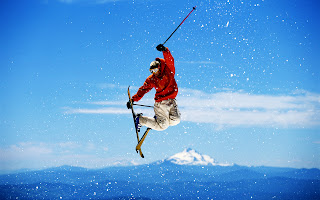 Skiing Jump Winter Sports High Mounts HD Wallpaper