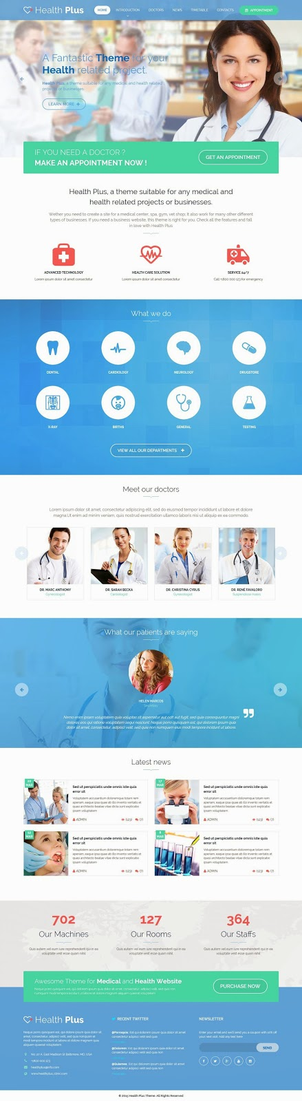 Responsive Medical or News Template