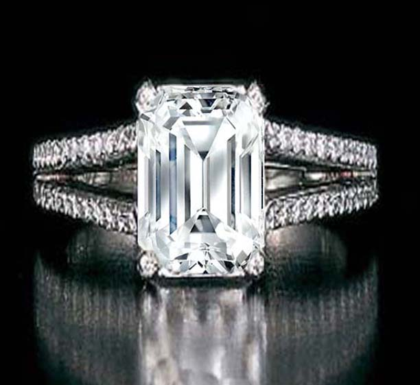 She Fashion Club Emerald Cut Diamond Engagement Rings