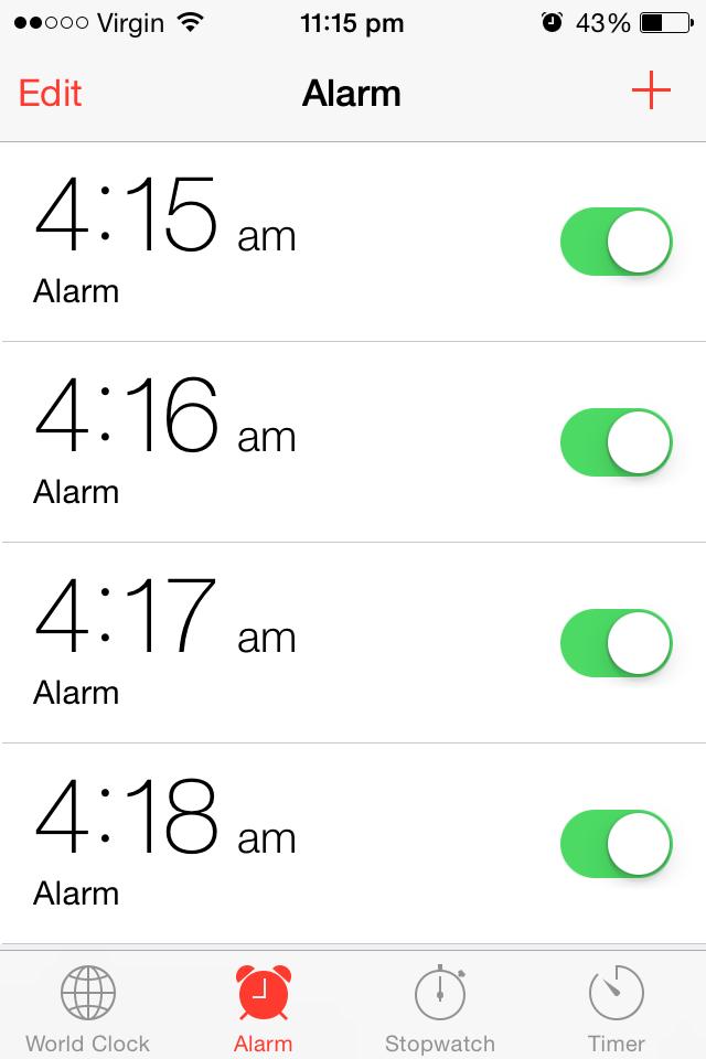 alarm english song