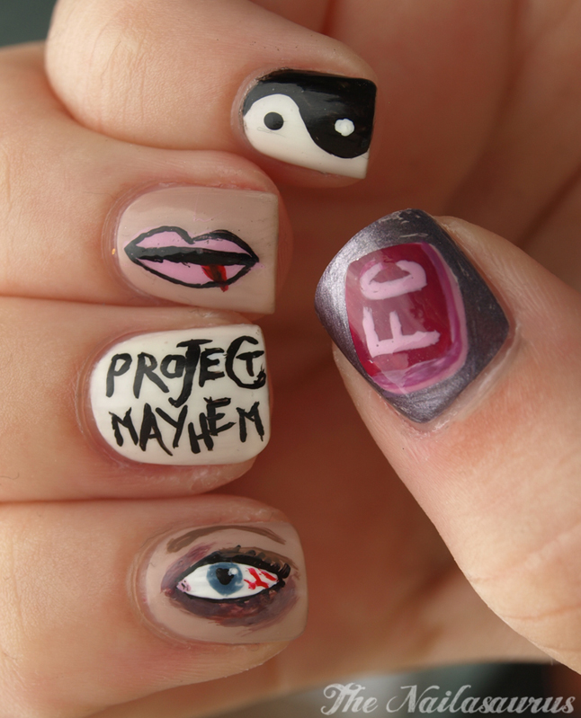 Just Like The Movies: Fight Club Nail Art