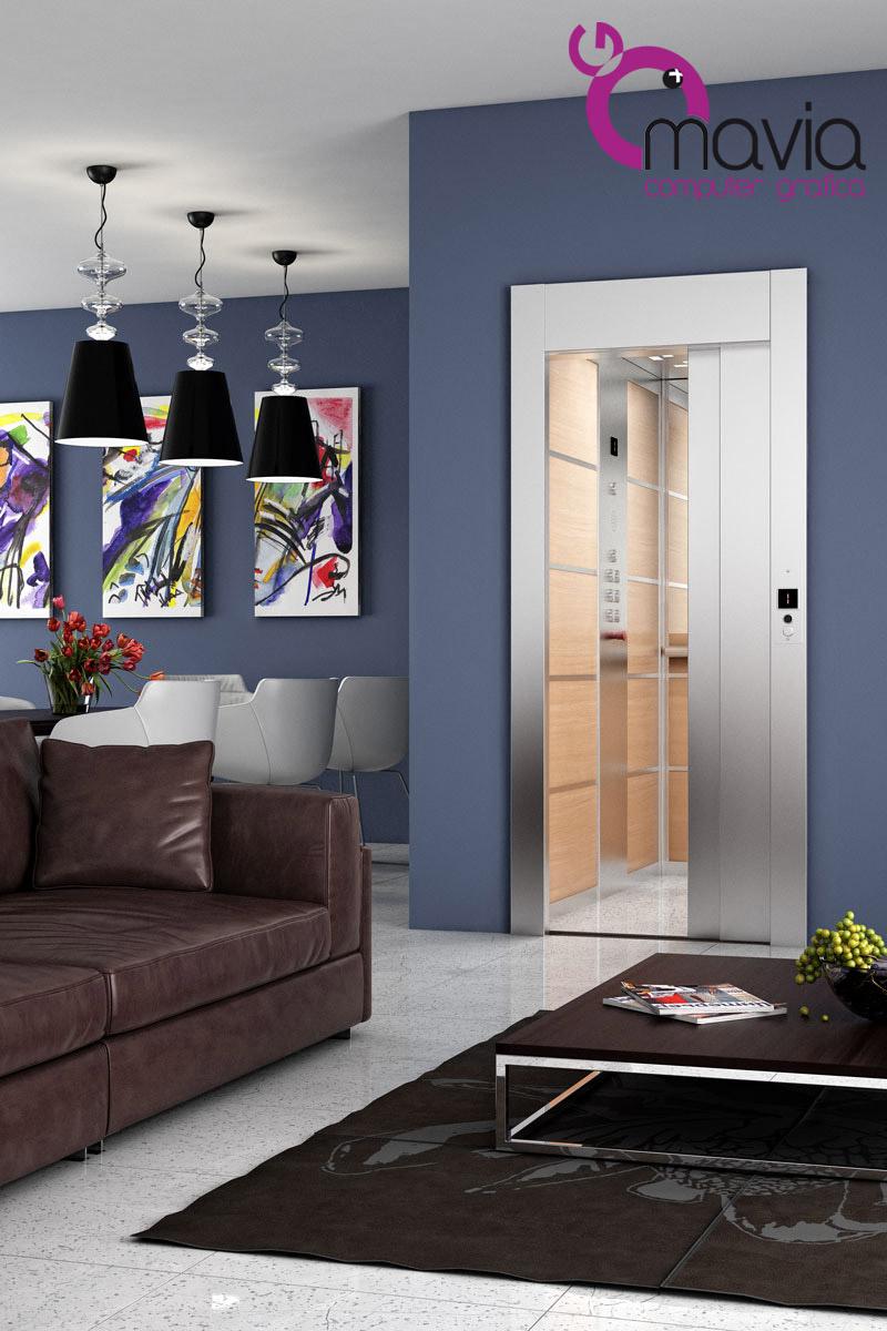 Arredamento di interni rendering 3d arredamento interni for Interni di ville classiche