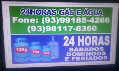 24 horas gás e água