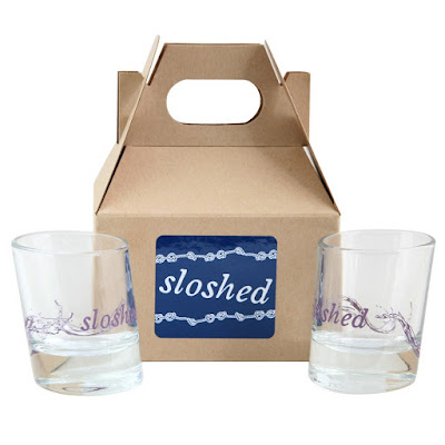 preppy white elephant gift ideas fishs eddy sloshed shot glasses