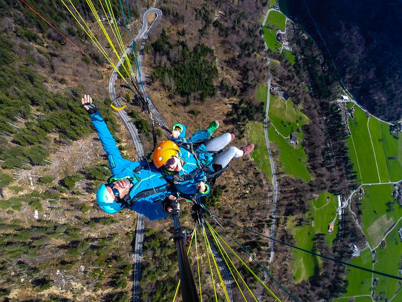 Paragliding photographs in interlaken switzerland