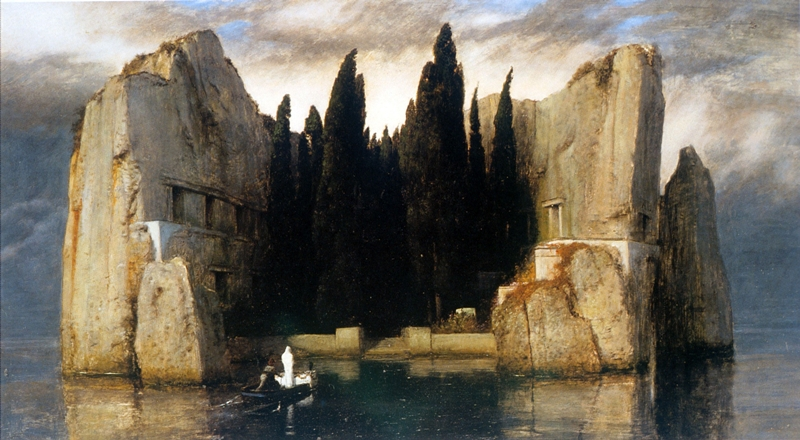 Arnold Böcklin 1827-1901 | Swiss Symbolist painter | The Isle of the Dead