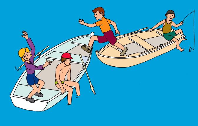 правила безопасности сверху воде лодка