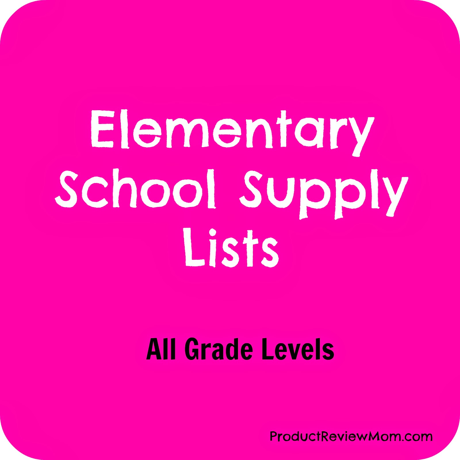 Elementary School Supply Lists for All Grade Levels #BacktoSchool #BacktoSchoolSupplies via ProductReviewMom.com