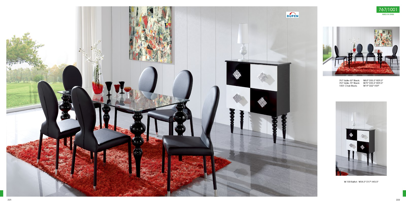 Red and Black Dining Room Sets