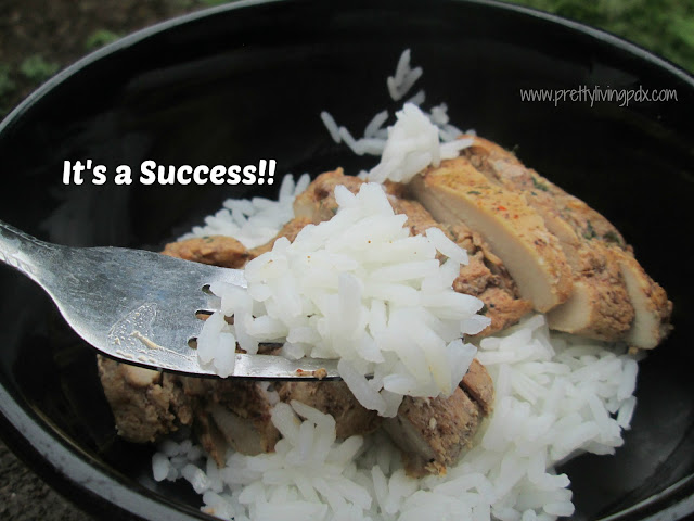 Success rice close up