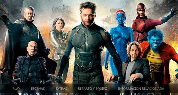Menu descarga HD X-Men: Días del Futuro Pasado