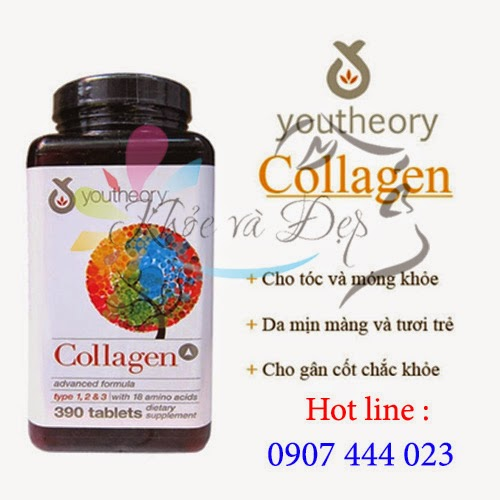 Youtheory Collagen  type 1,2,3 390 viên