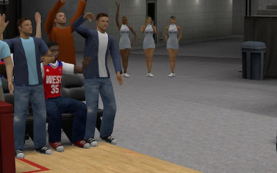 NBA 2K13 All-star Game Sideline Characters Fix