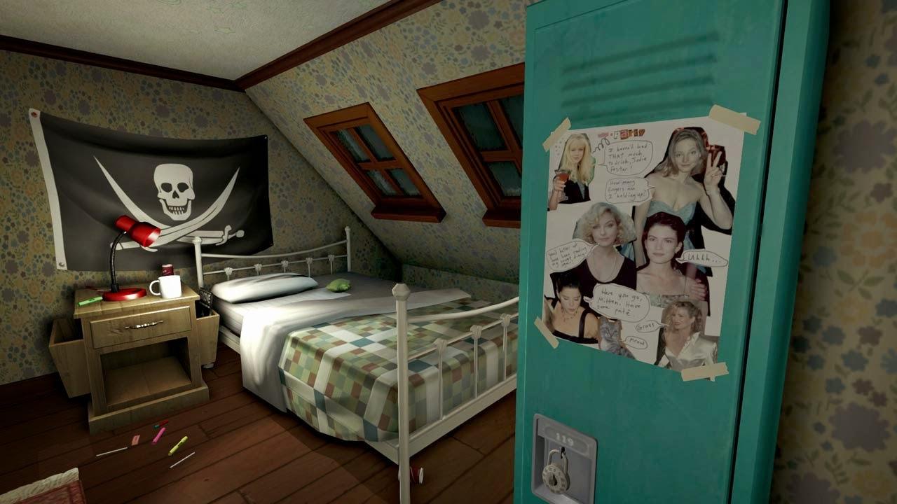 gone home samantha bedroom poster locker screenshot