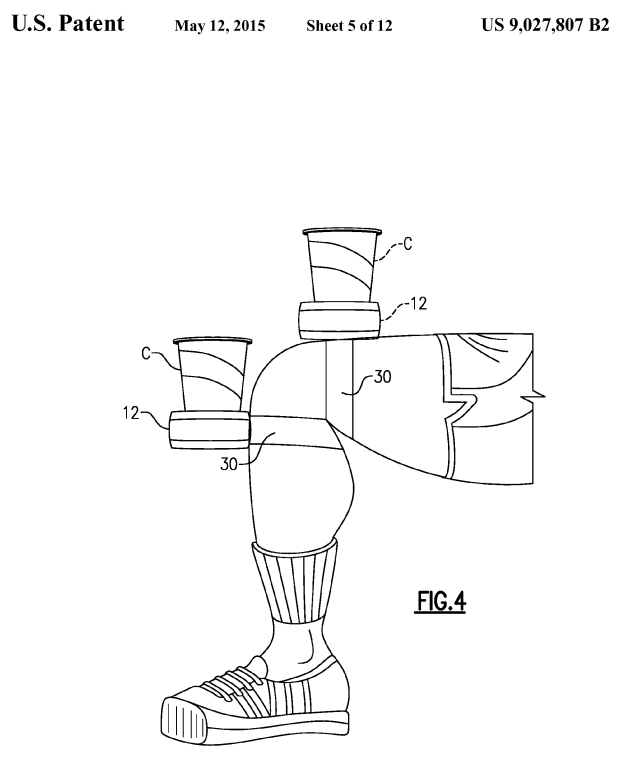US Patent 9,027,807 - Figure 4