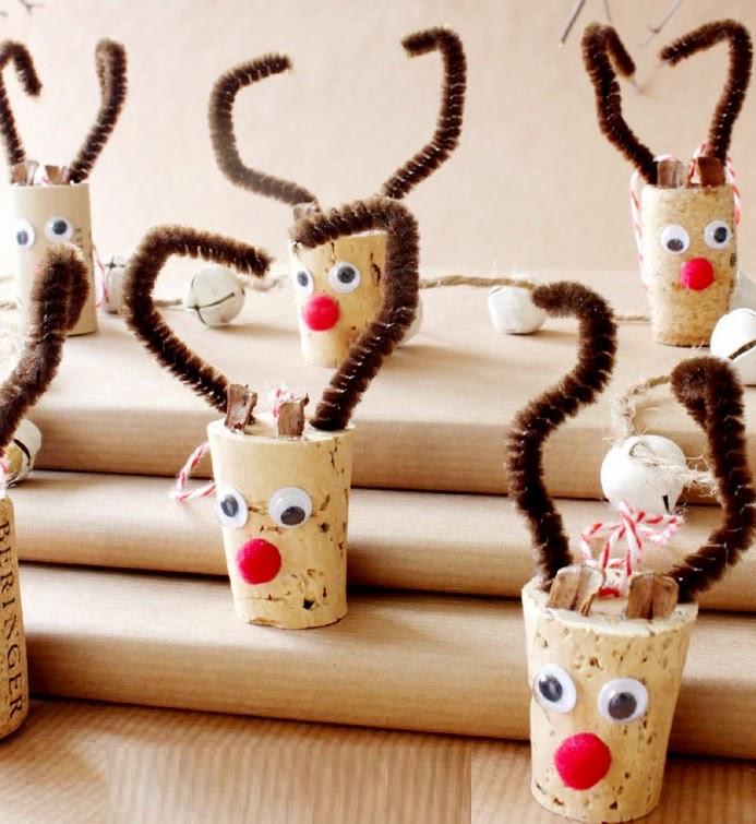 Decoracion De Navidad con Corchos Reciclados