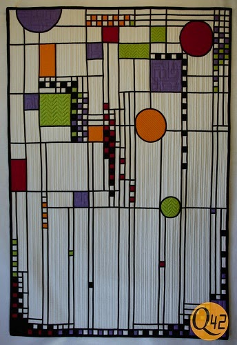 Quilting42 My Frank Lloyd Wright Inspired Quilt Happy42